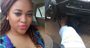 Nigerian Lady Holds On To The Brake Of A Bus For The Driver To Fight An 'Agbero'