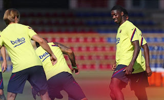 Dembele finally completes First group training after injury return