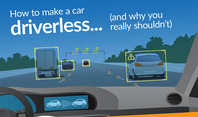 Build a driverless car in five steps #infographic