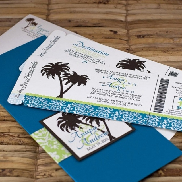 Do You Buy A Gift For A Destination Wedding: 7 Best Beach Wedding Invitations Will Make Bride-to-be And
