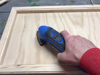 Giving it a quick sanding