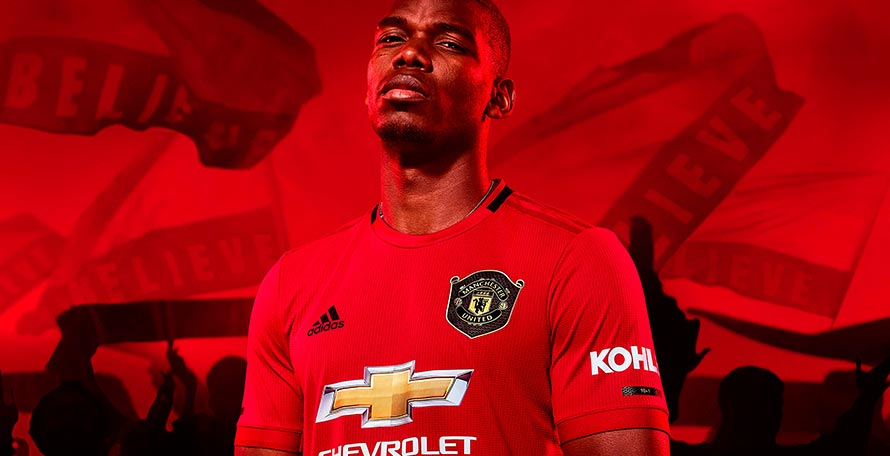 manchester united 19 20 home kit released footy headlines manchester united 19 20 home kit