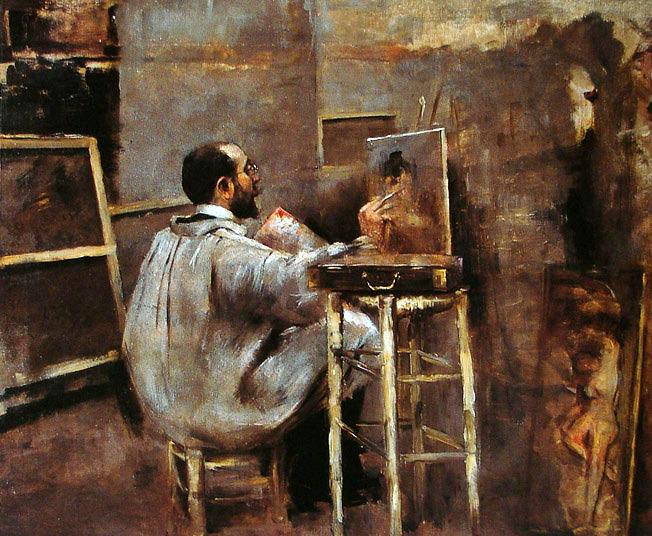 Artur Timóteo da Costa - Pintor no Ateliê