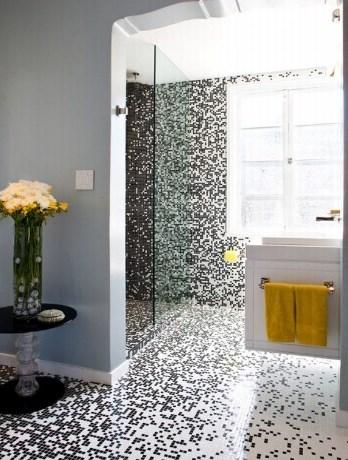 Pixilated Badezimmer Design mit Mosaik-Badezimmer-Fliesen ...