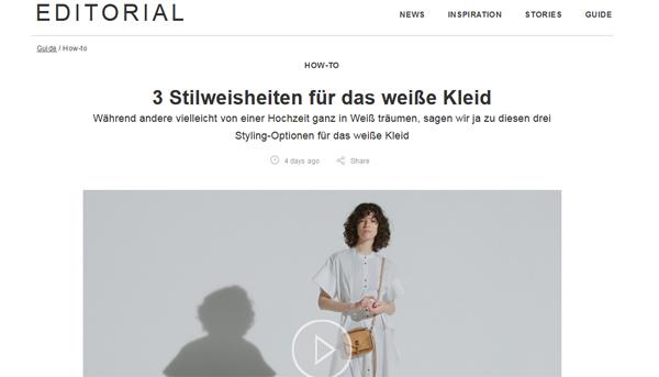 Zalando Online-Magazin Editorials, Zalando Onlineshop, Modetrends 2017, weiße Kleider kombinieren, Fashion Online-Magazin, Kooperation Blogger