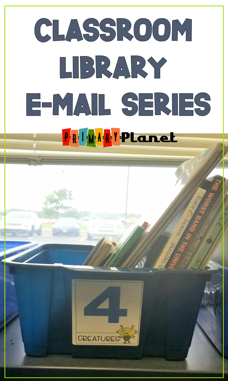 E-mail Series!  Classroom library tips and tricks with a freebie each week in September!