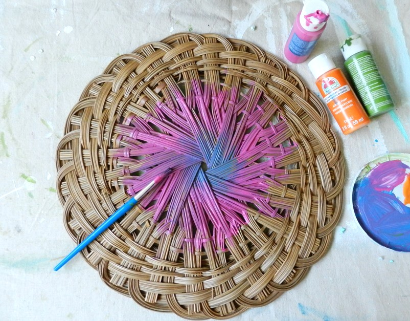 Ombre Basket Home Decor
