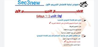 نماذج إختبارات لغة عربية ثانوية عامة نظام جديد بالإجابات الصحيحة