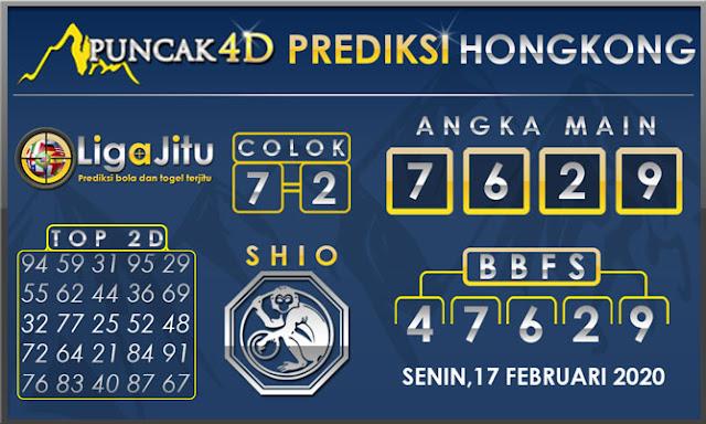 PREDIKSI TOGEL HONGKONG PUNCAK4D 17 FEBRUARI 2020