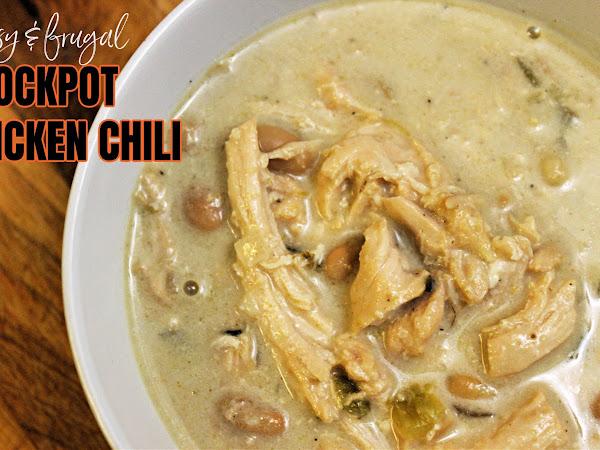 Crockpot White Chicken Chili (Cream Cheese)