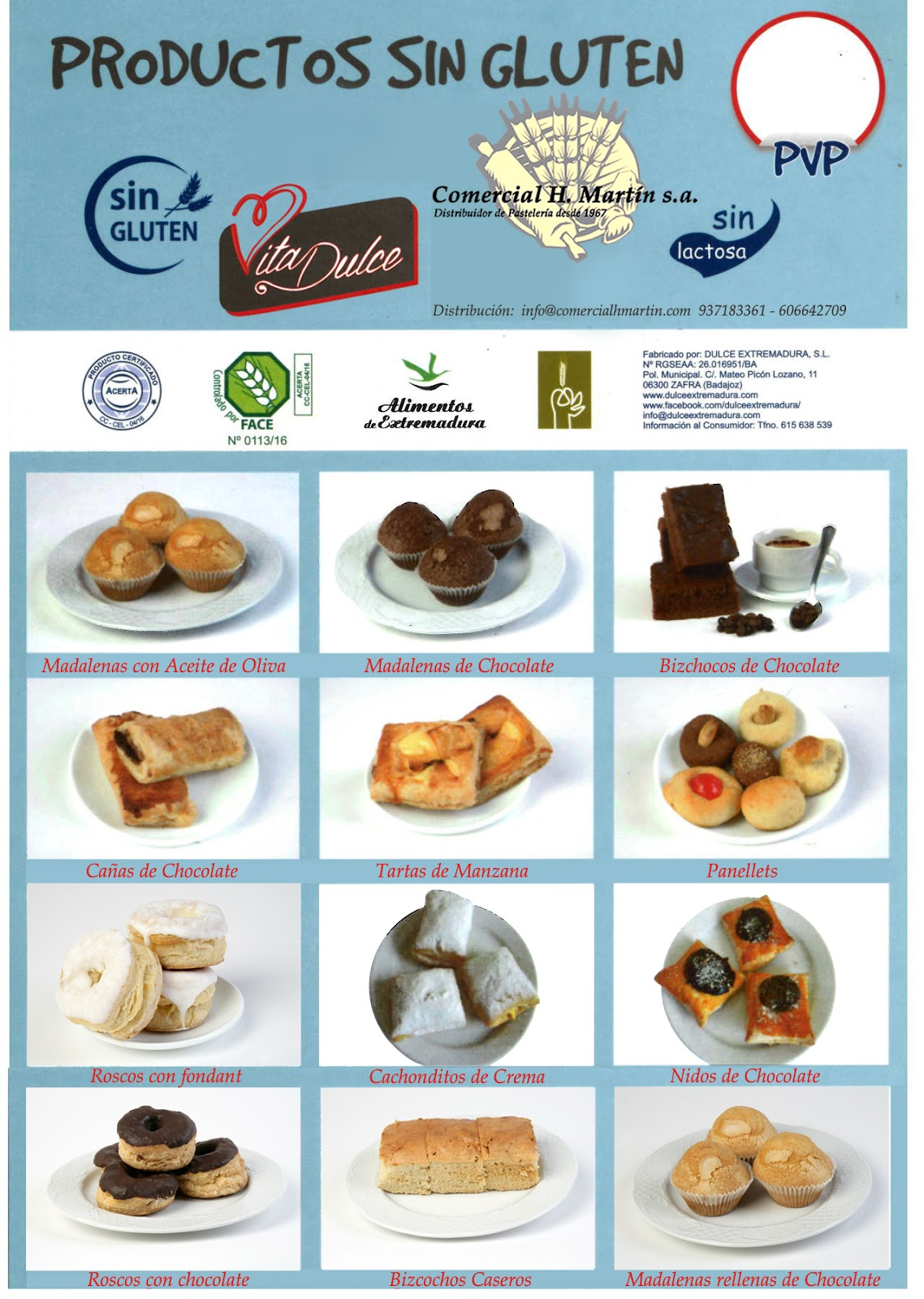comercial h. martín s.a. - distribuidor de pasteleria: sin gluten y