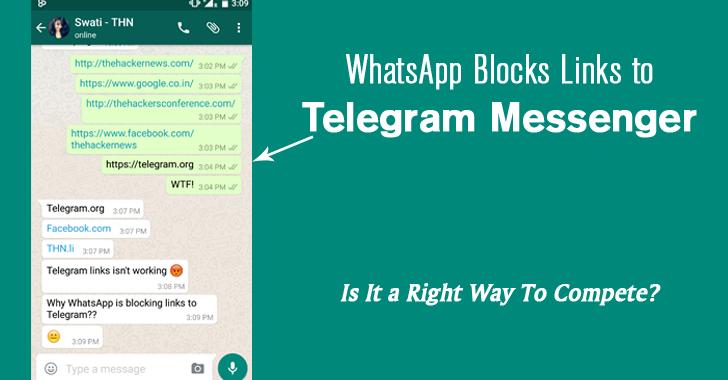 Whatsapp blocks links to telegram messenger its biggest competitor stopboris Gallery