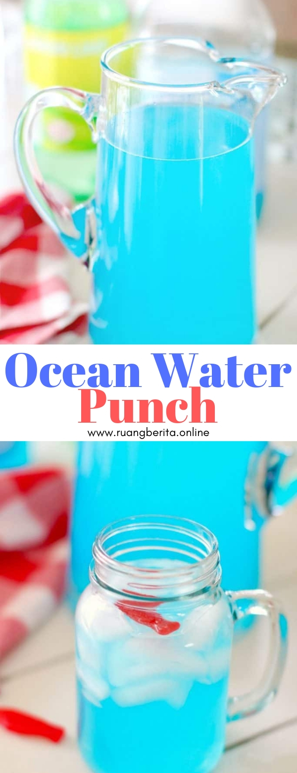 Ocean Water Punch #summer #drink #ocean #water #punch
