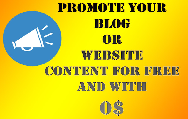 Promote Website content