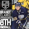 Brandt Clarke Drafted 8th Overall by LA Kings.