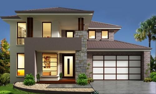model rumah tingkat sederhana 1