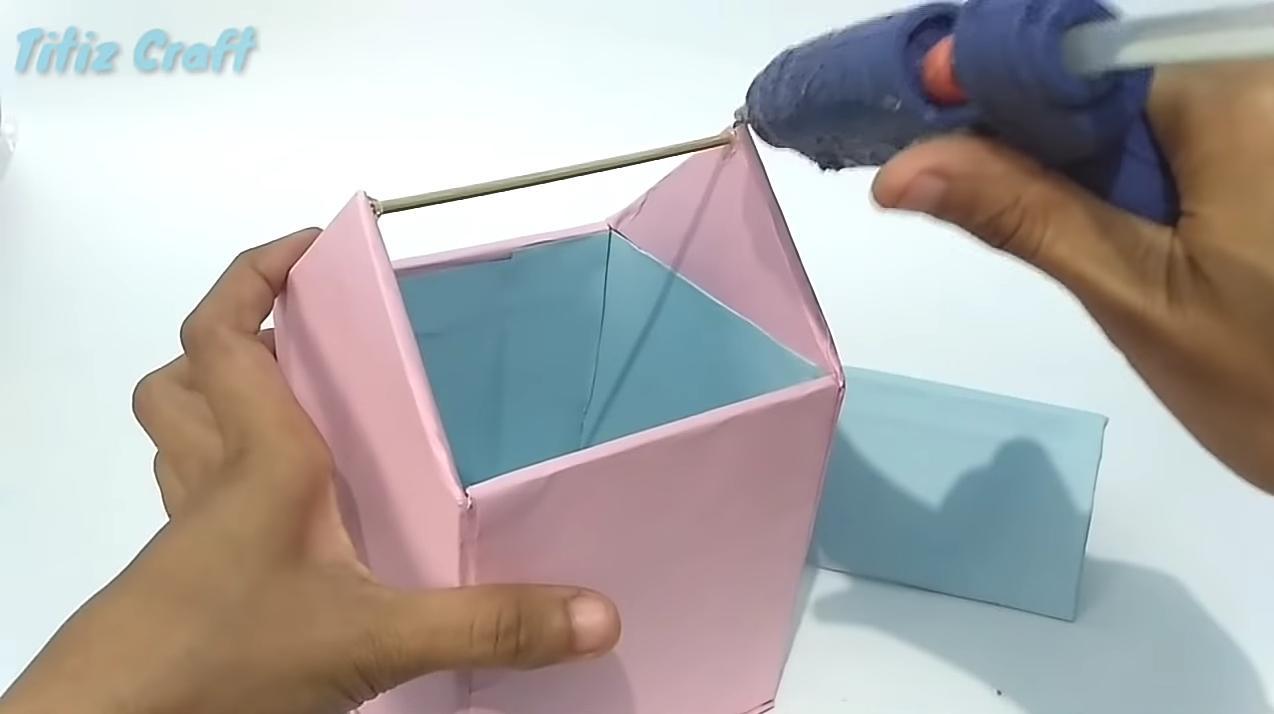 Cara Membuat Tempat Sampah Mini Dari Kardus Bekas   Cara Membuat ...