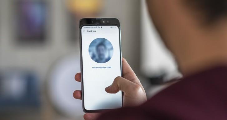 Face unlock on the Huawei Honor Magic 2