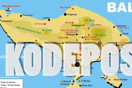 Daftar Seluruh Kodepos Provinsi Bali
