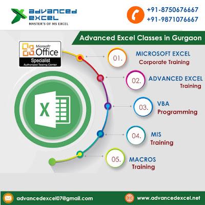 Advanced Excel, VBA Macros, MIS Training in Gurgaon, Delhi