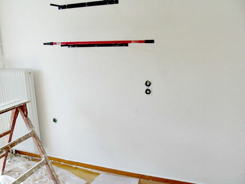 Painting the wall in my office
