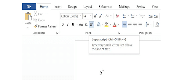 Squared Symbol on Microsoft Word and Google Docs
