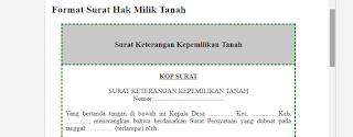 Contoh Surat Hak Milik Tanah