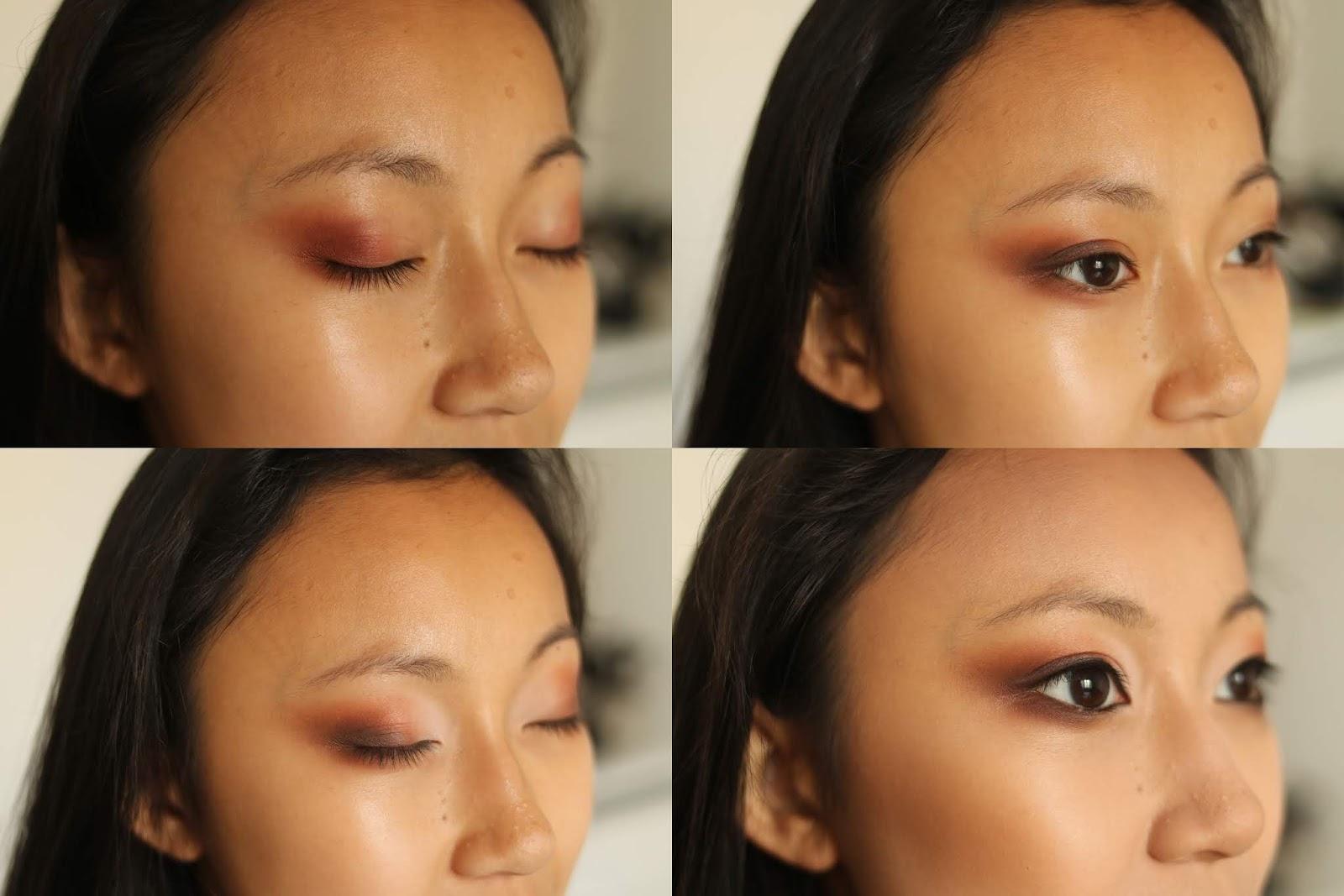 makijaż w pomarańczach