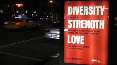 Diversity propaganda poster