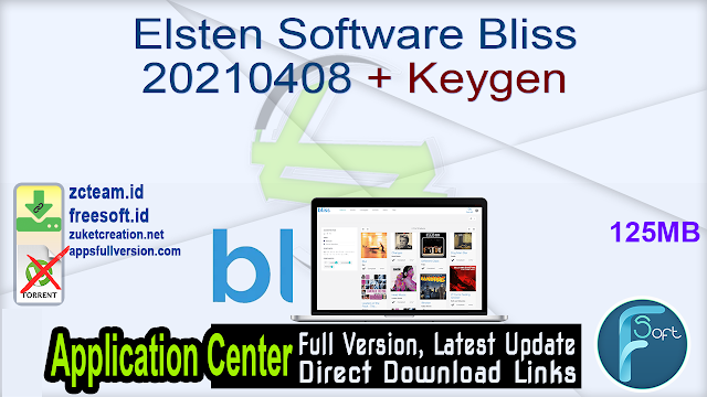 Elsten Software Bliss 20210408 + Keygen