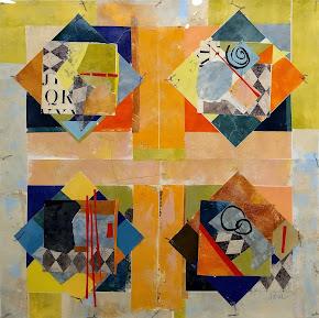 REE KATRAK mixed media, abstract art. studio 6