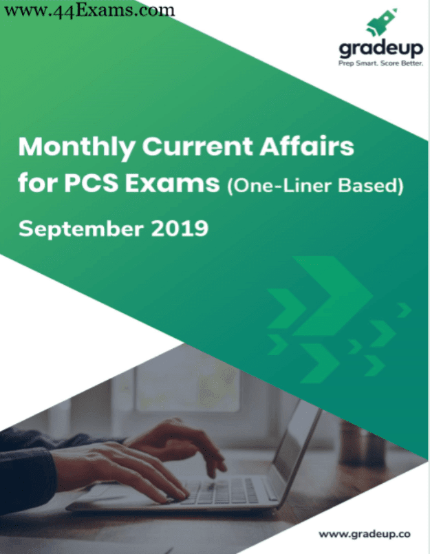 Gradeup-One-liner-Current-Affairs-September-2019-For-All-Competitive-Exam-PDF-Book