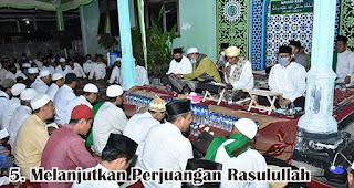Melanjutkan Perjuangan Rasulullah  merupakan salah satu hikmah memperingati peringatan maulid nabi
