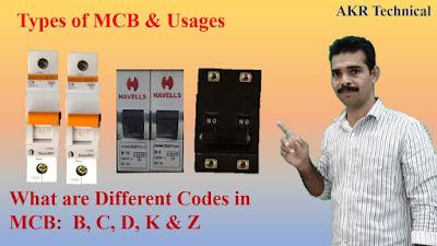 Classification of Circuit Breaker | Types of Miniature Circuit Breakers (MCB)