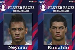 Neymar & Cristiano Ronaldo Face - PES 2017