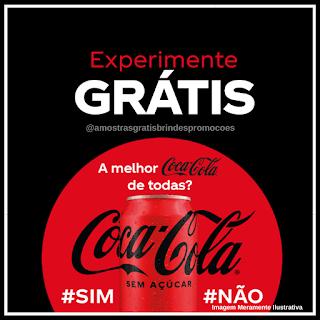 Experimente Grátis Amostra Grátis Coca Cola Sem Açúcar