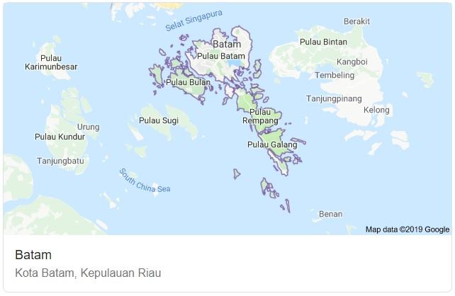 Peta Kota Batam Terbaru HD