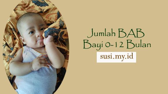 Jumlah BAB Bayi 0-12 Bulan - selaksa cerita