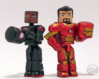 Diamond Select Walgreens Marvel Minimates Miles Morales Spider-Man and Iron Man