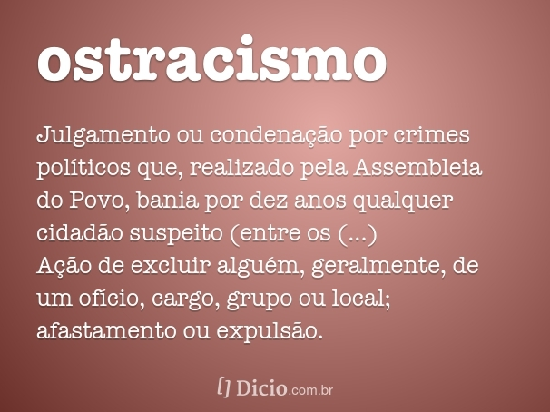 ostracismo/isolamento