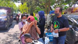 Komunitas KKT  Bagi Nasbung , Masker, dan Edukasi Pentingnya Prokes