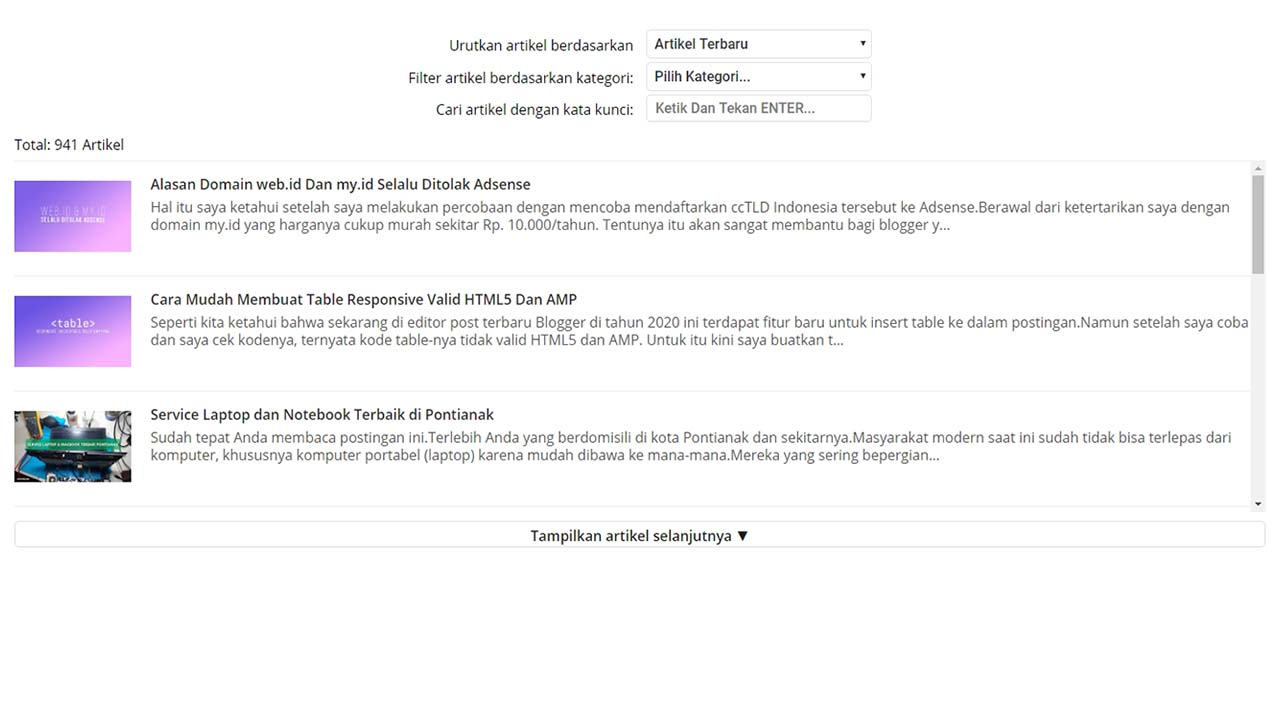 Sitemap Blogger AMP HTML with Language Support
