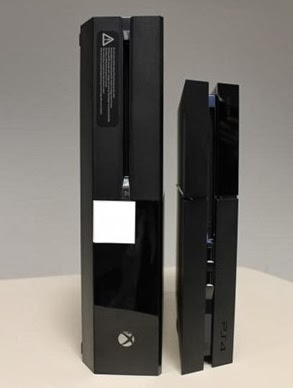 Xbox One VS PS4 Physical Size Comparison