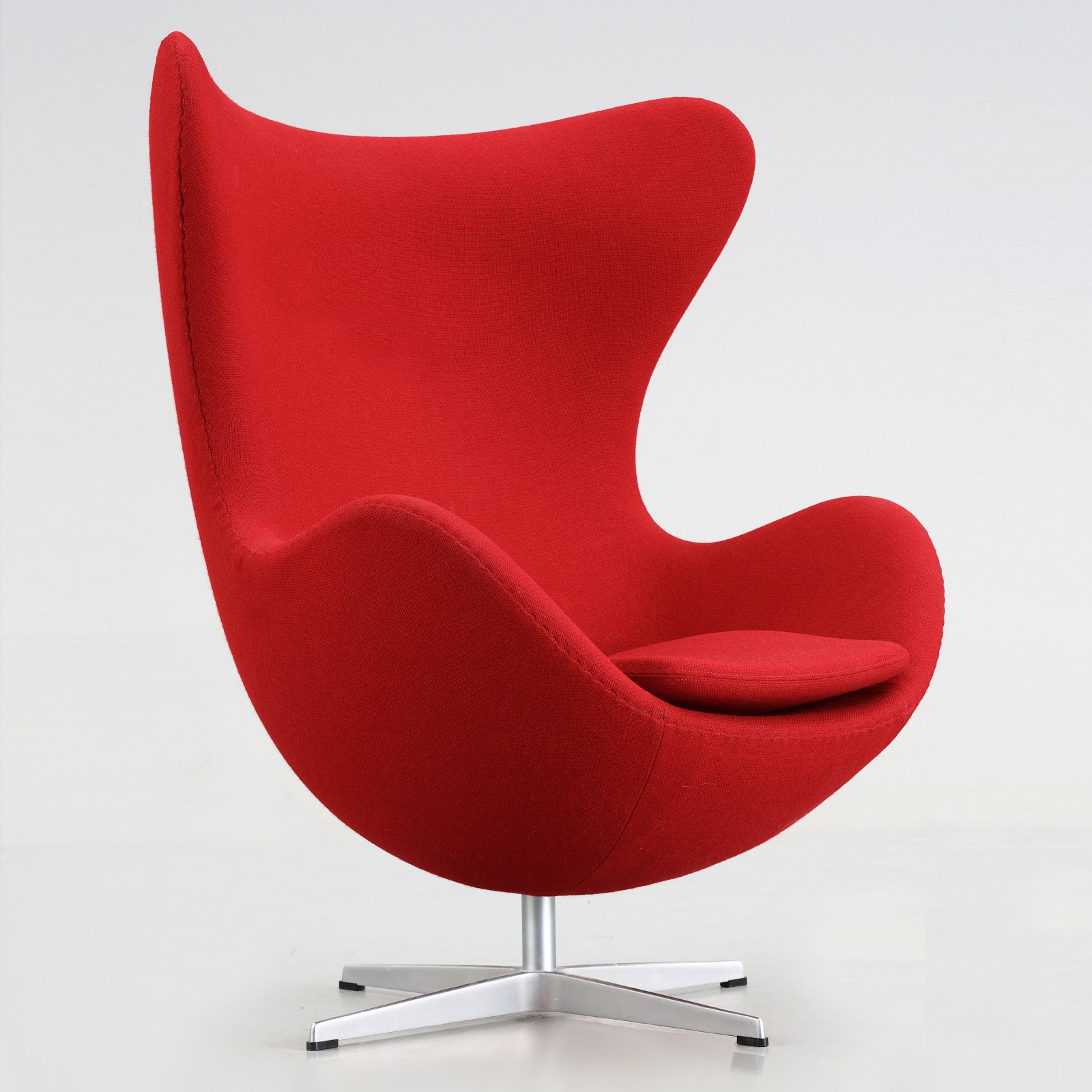 original egg egg arne jacobsen egg chair upholstered with gabriel red fame fabric