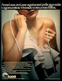 propaganda tecidos Cianê - 1977. moda anos 70. propaganda decada de 70. reclame anos 70. Oswaldo Hernandez..