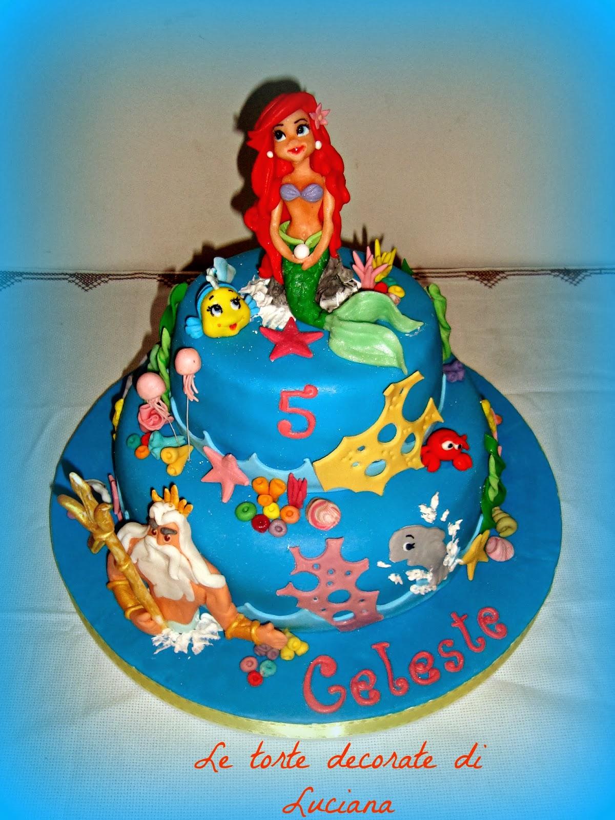 Eccezionale le torte decorate: torta sirenetta e tritone GA93