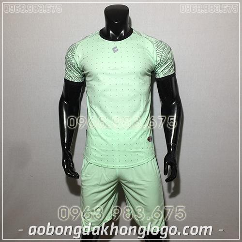Áo bóng đá ko logo Egan Atec màu xanh ngọc