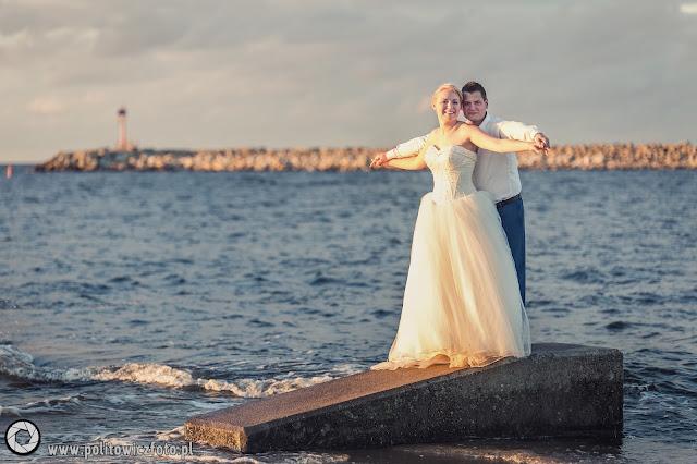 morze plener ślubny