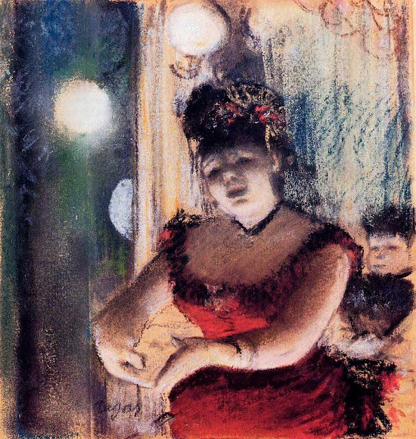 Эдгар Дега - Певица в кафешантане (1878)