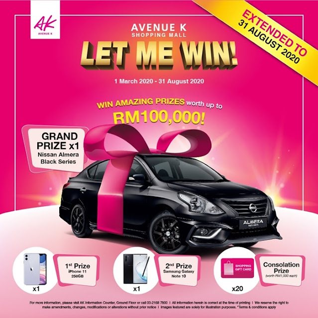 AK Let Me Win, Avenue K, Winners, Live Lucky Draw, Prize Giving, Lifestyle